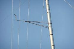 Braccio per torre tubolare da 2,54 m, galvanizzato
