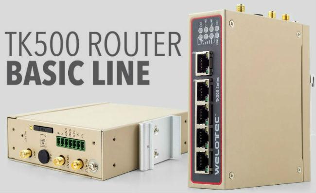 Router cellulari industriali - Welotec serie TK500 - Sartelco Sistemi srl